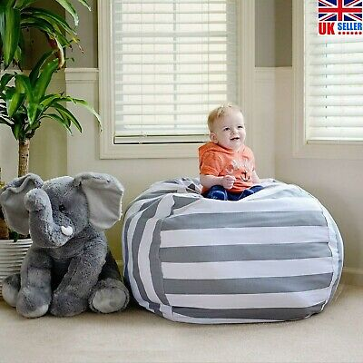 Extra Large Stuffed Animal Toy Storage Bean Bag Bean Cover Soft Seat Kids Chair • 6.88£