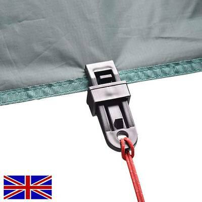 30X Reusable Tent Tarp Tarpaulin Clip Clamp Buckle Camping Tool Heavy Duty CC UK • 2.99£