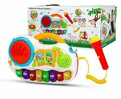 £14.99 • Buy Kids Baby Musical Toy Piano Developmental With Sing Along MIc & Tap Drum