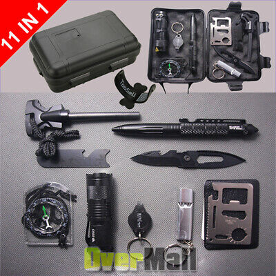 $16.99 • Buy Survival Tools Kit 10 In 1 Tactical Camping Emergency Outdoor Military EDC Gear