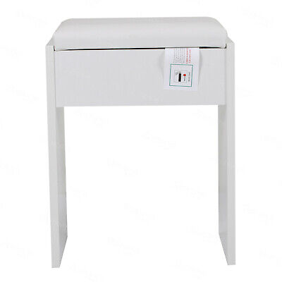Dressing Stool Piano Stool Soft Makeup Bench Cushioned Chair Padded Seat White • 17.90£