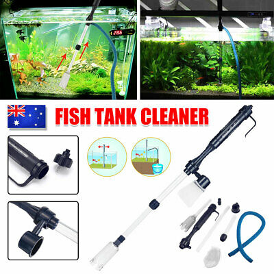 AU16.95 • Buy Fish Tank Cleaner Vacuum Siphon Change Gravel Aquarium Pump Water Cleaning NEW
