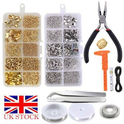 Jewellery Making Findings Kit Wire Pliers Set Starter Tools Necklace Repair Tool • 10.59£