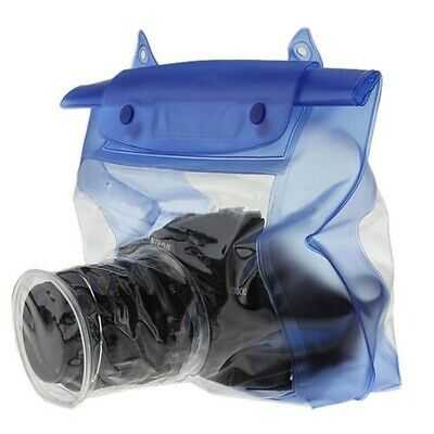 Waterproof DSLR/SLR Camera Pouch Dry Bag Underwater For Canon Nikon Blue 20M P5A • 6.14£
