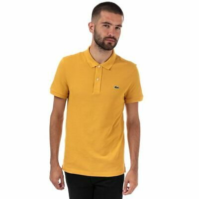 Men's Lacoste Slim Fit Petit Piqué  Cotton Polo Shirt In Yellow • 38.94£