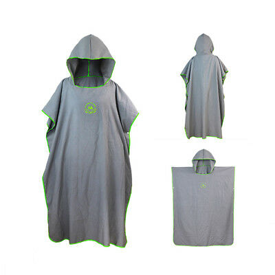 Fit All Microfiber Surf Beach Wetsuit Changing Towel Bath Robe Poncho With Hood  • 15.99£
