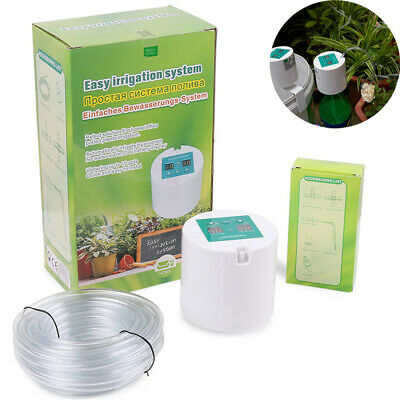 UK DIY Automatic Drip Irrigation Plant Kit Greenhouse Self Watering Timer System • 29.95£