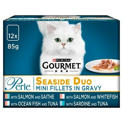 Gourmet Perle Seaside Duo Cat Food Pouches - 12 X 85g • 5.87£