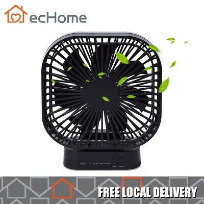 AU19.99 • Buy EcHome Rechargeable USB Portable Desk Fan 3 Speed Handheld 20 Hrs Cooling Air