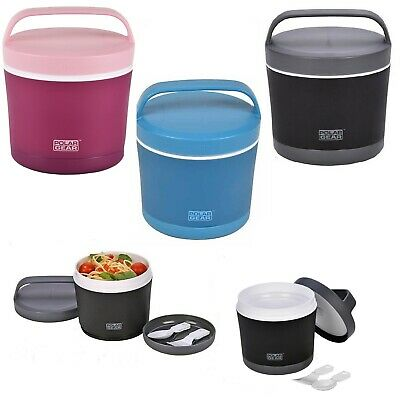 £11.90 • Buy Lunch Bowl Office Hot Cold Meal Flask Baby Food Thermos Microwave Pot Spoon Fork