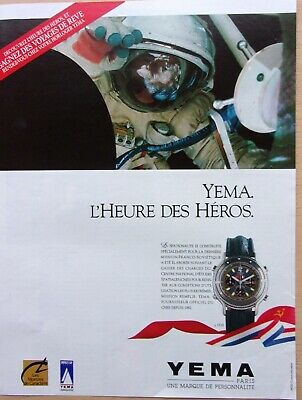 AU4.89 • Buy Page Of Advertising/Watches / Yema IN 1990 / Ref. 68056