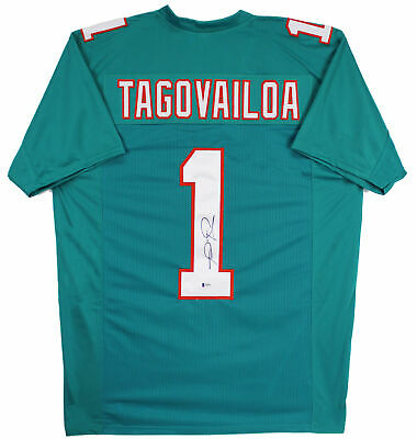 $ CDN250.63 • Buy Tua Tagovailoa Authentic Signed Teal Pro Style Jersey Autographed BAS