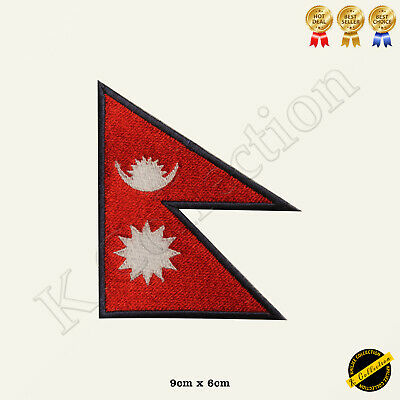 Nepal National Flag Embroidered Iron On/Sew On Patch Badge For Jeans Etc • 1.99£