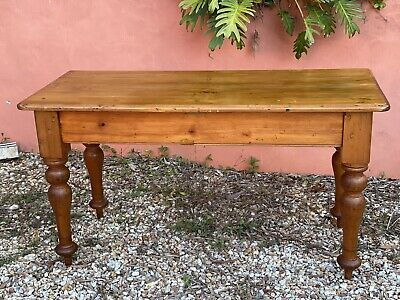 AU350 • Buy Antique Kauri Pine Side Table- Solid Beautiful Patina