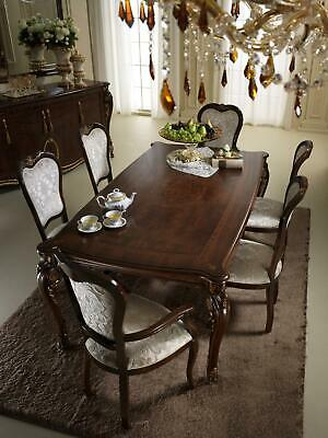 Classic 4 Chairs Designer Chairs Wood Set Italian Dining Room Furniture • 1,542.12£