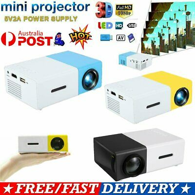 AU52.25 • Buy Portable Mini Pocket Projector LED Home Cinema HD 1080P HDMI USB AU STOCK