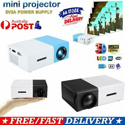AU65.96 • Buy Mini Pocket YG300 3D Projector LED HD 1080p Home Theater Cinema USB HDMI GD