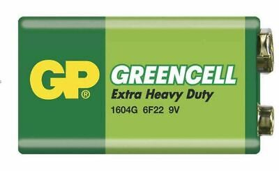 GP GreenCell 9V Battery MN1604 6LR61 PP3 BLOCK 6F22 EXTRA HEAVY DUTY • 2.04£