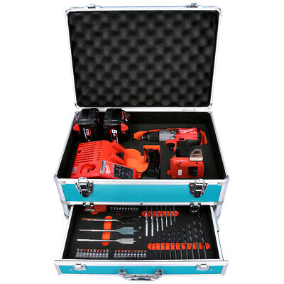 Milwaukee M18ONEPD2 18V Combi Drill + 2 X 5Ah Batteries, Charger & 70pc Acc.Set • 345.99£