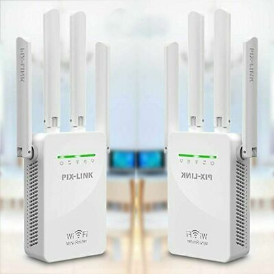 WiFi Extender Signal Booster 4 External Antennas Fast Speed WiFi Repeater Router • 11.94£