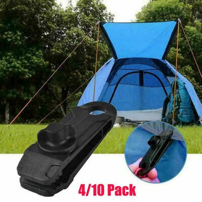 4/10PCS Reusable Heavy Duty Linoleum Clip Grommet Tent Clips Buckle Awning Tarp • 5.69£