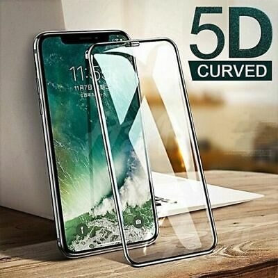 Apple IPhone X XR XS Max Full Film Tempered Glass Screen Protector 5D Curved • 3.69£