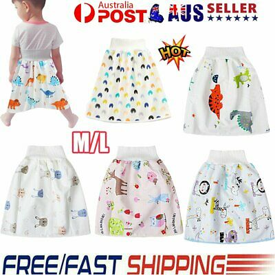 AU16.96 • Buy 2in1 Childrens Diaper Skirt Shorts Nappies (Cloth) Toddler Absorbent Change Mats