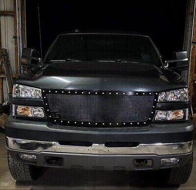$255 • Buy 05 06 07 Chevy Silverado Rivet Marker Light Mesh Grille Grill Insert