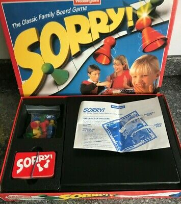 Sorry! Board Game. By Wadddingtons 1997 Excellent Condition Complete. • 14.75£