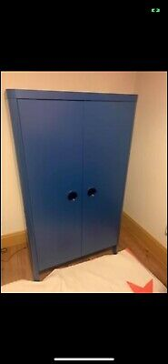Childrens Ikea Single Bedroom Set, Blue, Bed, Wardrobe, Drawers And Mattress • 170£