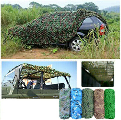 Army Camouflage Net Camo Netting Camping Shooting Hunting Hide Woodland Sunshade • 11.99£