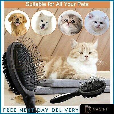 Professional Double Sided Pet Grooming Brush Dog Cat Puppy Hair Shedding Tool • 4.45£