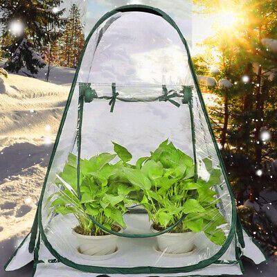 Mini Greenhouse Tent Pop Up PVC Grow House Greenhouse Cover For Garden Backyard • 20.99£