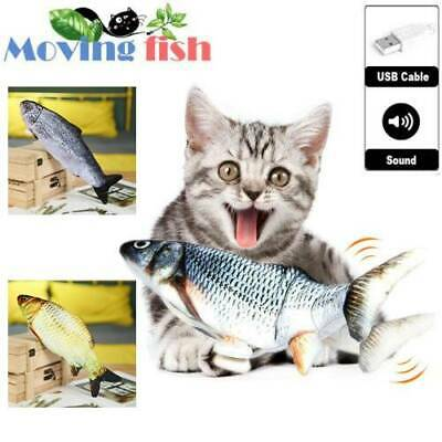 AU14.99 • Buy Electric Moving Fish Toys Power Realistic Funny Cat Kicker Toys For Cat Catfish