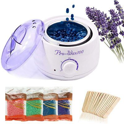 Hard Wax Beans Heater Wax Pot Warmer Machine Kit Tool For Hair Removal Or Beans • 24.99£
