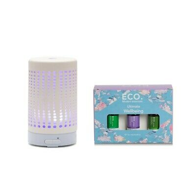 AU169.99 • Buy Ceramic Diffuser And Ultimate Wellbeing 12 Pack, ECO. Essential Oils