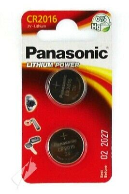 Panasonic 2-Pcs CR2016 3V Lithium Power Coin Cell Battery Pack / Car Remote Toys • 1.49£