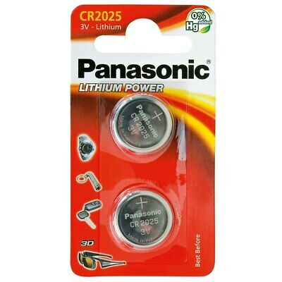 Panasonic 2-Pcs CR2025 3V Lithium Power Coin Cell Battery Pack / Car Remote Toys • 1.42£