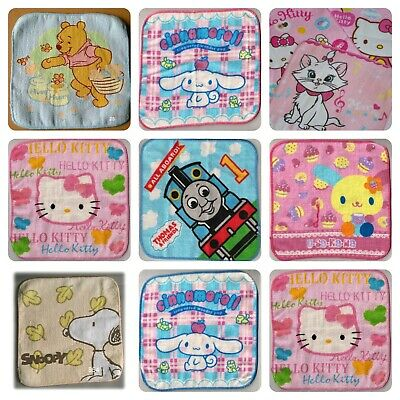Character Flannel Towel Snoopy Winnie Pooh Hello Kitty Thomas Tank Marie Cat • 6.99£