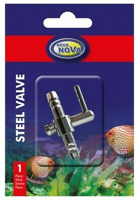 Air Flow Line Stainless Steel Control Valve 1 Output For Aquarium • 2.99£