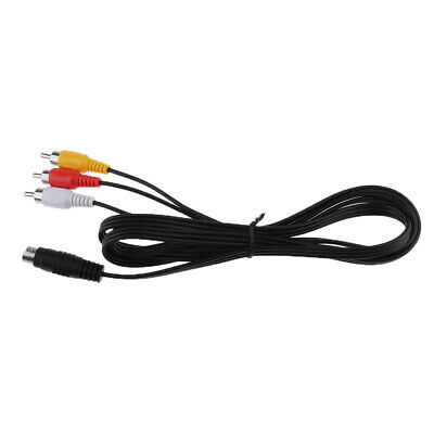 1.5Meter S-Video 7-Pin Mini-DIN Male To 3 RCA Female Cable For TV HDTV 5FT • 4.17£