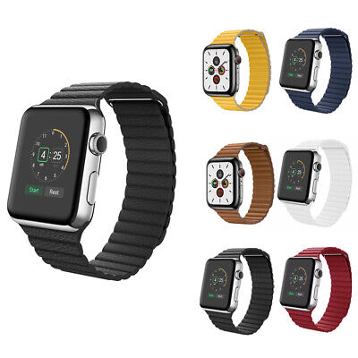 $ CDN12.99 • Buy Leather Loop Band With Magnetic Strap For Apple Watch 1 / 2 / 3 / 4 / 5 / 6 / SE
