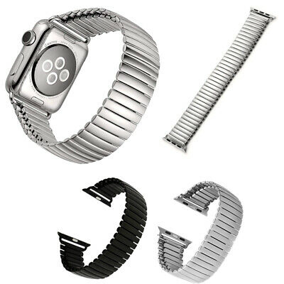 $ CDN19.99 • Buy Stretch Link Steel Strap Band For Apple Watch Series 1 / 2 / 3 / 4 / 5 / 6 / SE