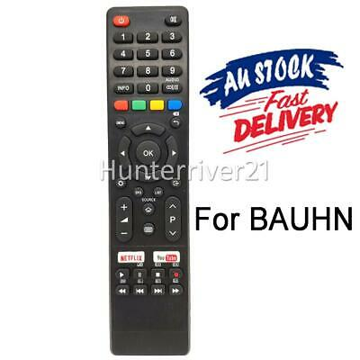 AU29.95 • Buy Remote Control For Aldi BAUHN Smart TV ATV65UHD Series NETFLIX+YOUTUBE Function