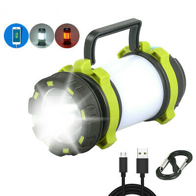AU19.99 • Buy Rechargeable LED Camping Lantern Outdoor Tent Light Lamp & Power For Phone