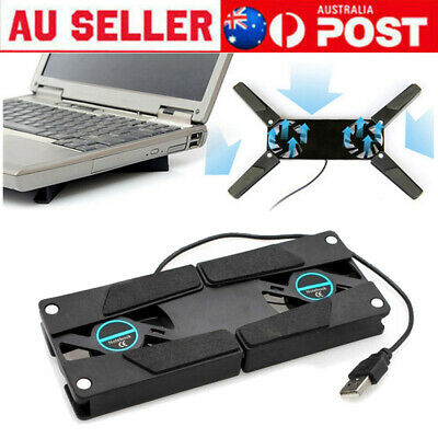 AU10.99 • Buy USB Laptop Dual Cooling Fan Cooler Pad Stand Base Cradle Notebook Computer