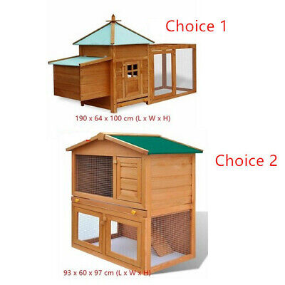 £139.77 • Buy Outdoor Chicken Coop Hen House Carrier Poultry Animal Habitat Cage Animal House