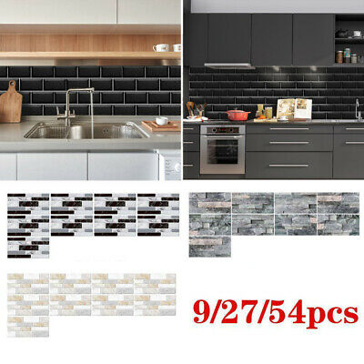 Mosaic Sticker Kitchen Tile Stickers Bathroom Self-adhesive Wall Decor DIY UK CC • 2.99£