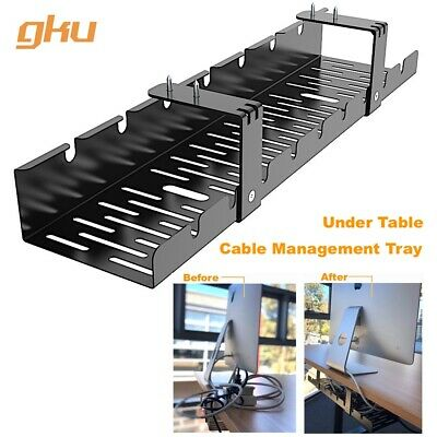 AU35 • Buy Gku™ Under Desk Cable Management Tray Cord Wire Organizer Wire Management AC1011