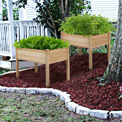 Outdoor Raised Elevated Garden Bed Planter Box Grow Flower Vegetable Stand Yard • 69.96£